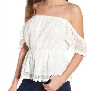 Cupcakes & Cashmere - Off-the-shoulder top